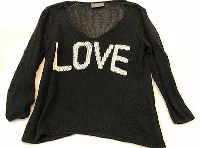 Wooden Ships Sweater Love Black XS/S