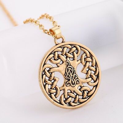 Ancient Amulet Nordic Viking Celtic Knot Tree of Life Yggdrasil Pendant Necklace
