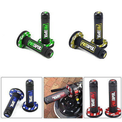 "2x 7/8"" Rubber Motorcycle Hand Grip Motocross Handlebar Handle Bar ATV Dirt Bike"