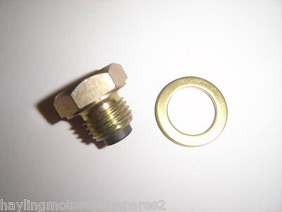 Aftermarket Magnetic Oil Drain Bolt Sump Plug Yamaha Rd250 Rd 250 73-75 New