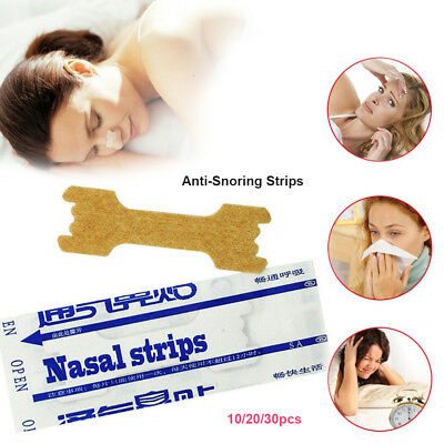 30 x Anti Snoring Nasal Strips Breathe Right Easier Stop Snore Sleeping Nose New