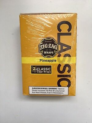 Zig Zag Wraps Pineapple 50  Wraps 2 Per Pack 25 Packs Per Box Free Priority Ship