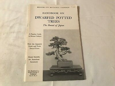 Vintage Brooklyn Botanic Gardens Dwarfed Potted Trees 1959 Bonsai Of Japan