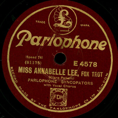 JUSTIN RING & HIS OKeh ORCH.  Miss Annabelle Lee/ Under the Moon  -1927-  S653