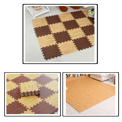 Brown & Beige Soft Foam Play Mat Interlocking Extra Thick Floor Tiles For Kids