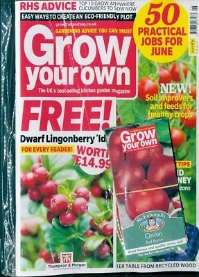 GROW YOUR OWN MAGAZINE JUNE 2018 WITH 4 x PACKS OF FREE SEEDS