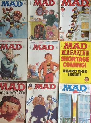 Job Lot UK Mad Magazine Issues 223/224/225/226/227/228/229/232/ 233