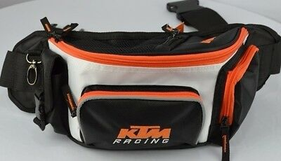 New KTM Motorcycle White Boom Bag Bike Riding Waist Pack Pouch Sport Wallet