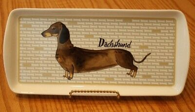 Lovely New Milly Green Dachshund Serving Tea Tray Dog Treats Puppy Doxy Mug