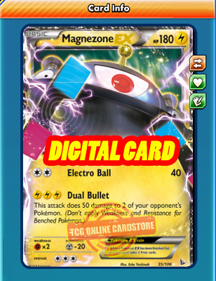 NRG Boost ptcgo in Game Card Magnezone Support Set - for Pokemon TCG Online