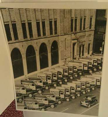1950 The Pittsburgh Press Newspaper Delivery Trucks Pa. Repo Poster