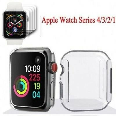 Apple Watch Series 4/3/2/1 Full Cover TPU Case Screen Protector iWatch 40/44mm Q