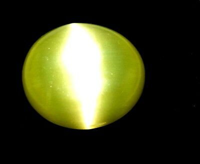 8.85 Ct Antique Gem Ggl Certified Natural Yellow Apatite Cat S Eye Africa