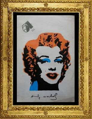 Andy Warhol Painting On Original Paper  Of 80' S   - No Print - Vintage --