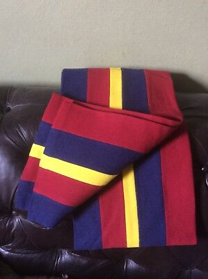 WOOL COLLEGE SCARF by EDE & RAVENSCROFT Vgc Made In Cambridge England