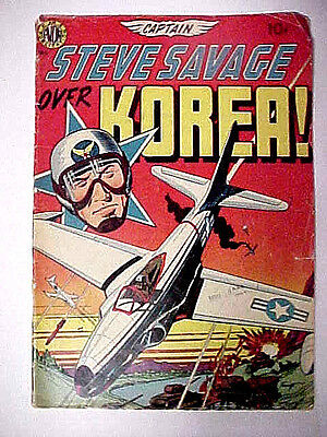 Captain Steve Savage Over Korea #1 1950 Avon Publications 22 Pages Wally Wood