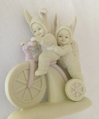 "Snowbunnies Limited Edition 1997-Dept 56-""On A Tricycle Built For Two"" Figurine"