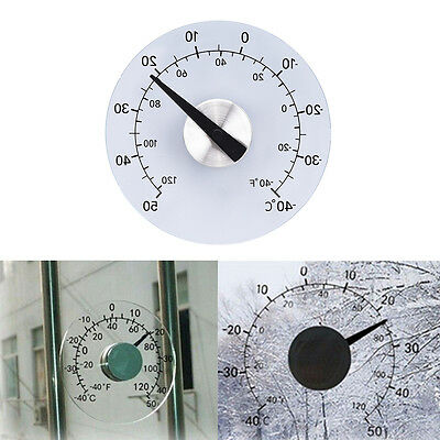 Clear ℉ ℃ Circular Outdoor Window Temperature Thermometer Weather Station Fgw