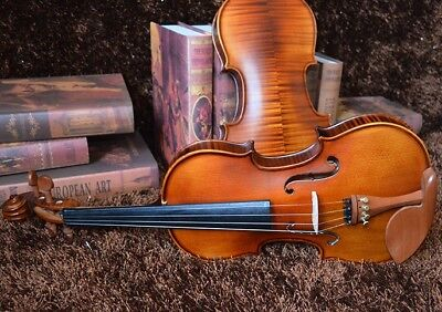 E23 Handmade 4/4 Full Size Wooden Violin Beginners Practice Musical Instrument M