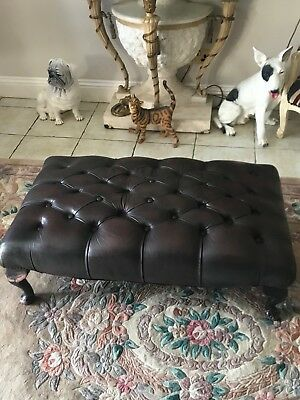 chesterfield stool leather