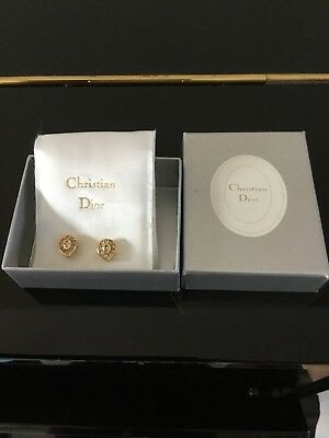 Collectible Vintage Christan Dior Earrings Gift 1980s 90s Costume Jewellery