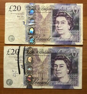 40 Pound Great Britain Bank of England Notes/Currency Lot - No Reserve