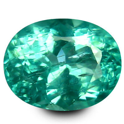 1.15 ct Oval (7 x 6 mm) Un-Heated Paraiba Blue Color Brazilian Apatite Gemstone
