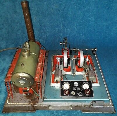 Wilesco D32 Dampfmaschine steam engine 50er Jahre rundes Logo steam toy engine