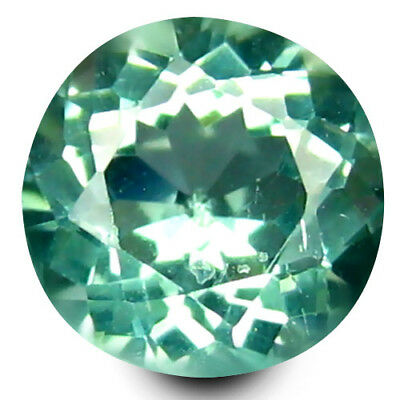 0.57 ct Round Cut (5 mm) Un-Heated Paraiba Blue Color Brazilian Apatite Gemstone