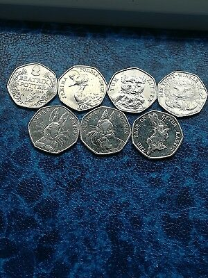 Beatrice Potter  set 7 Coins Inc Puddle Duck
