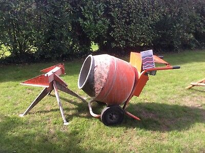 Belle G100 Mark 3 With 4 CU FT Concrete Mixer With Stand (Petrol Engine)