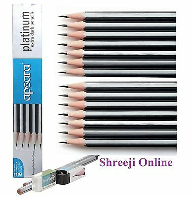 HB Pencils With Rubber Eraser Tip with FREE Sharper best DRAWING SCHOOL DESIGN