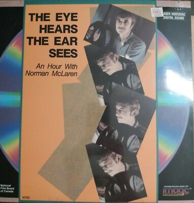 laserdisc THE EYE HEARS THE EAR SEES, extended LD. CANADA.NEW. Norman McLaren