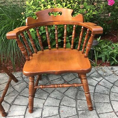 Tell City Captain's Chair Mate's Arm Chair Hard Rock Andover Maple 8047 XLNT