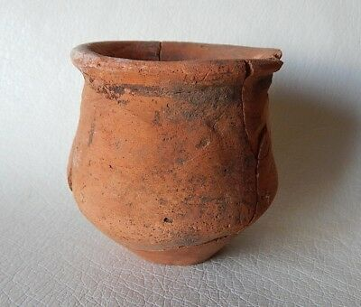 Prehistoric pot (90 mm) 3600 - 3200 BC. Trypillian culture. Ukrainian artifacts.