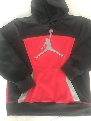 Boys Youth Michael Jordan Therma Fit Hoodie Athletic Sweater XL (13-15 Years )