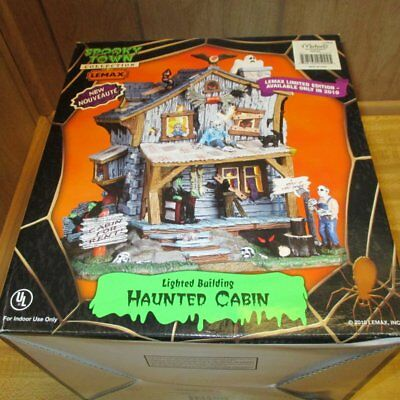 Lemax Halloween Spooky town collection Haunted Cabin 2010
