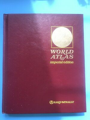 Rand McNally World Atlas IMPERIAL Edition 1976 Maps Earth Science Statistics
