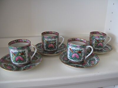 Vintage Chinese China Tea Cups & Saucers