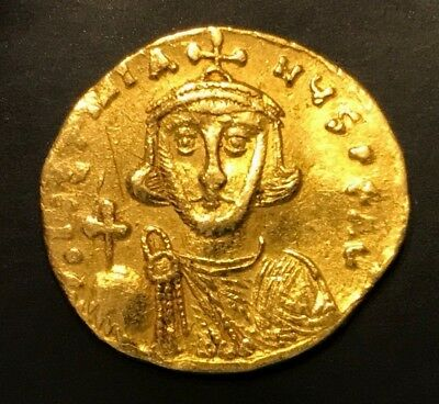 Ancient Byzantine Gold Coin Justinianus!!! First Reign 685 - 695 A.d. Scarce!