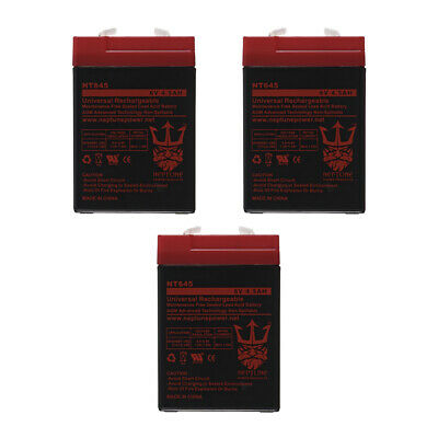6V 4.5AH SLA BATTERY WITH CHARGER -COMBO - 3 Pack
