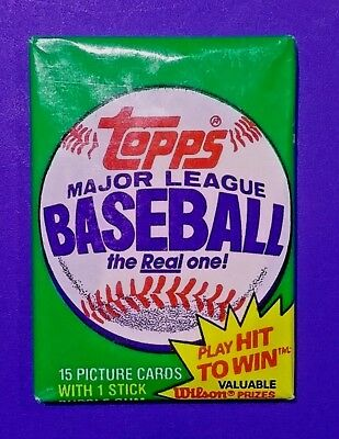 1981 Topps Baseball Wax Pack - Vintage Topps unopened Baseball Cards