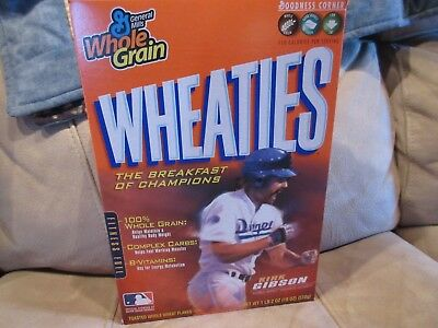 + 100 FREE CARDS  Kirk Gibson  L.A. DODGERS  Wheaties Cereal Box  Full Unopened