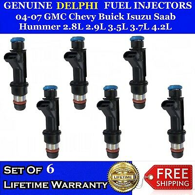 One New Genuine Delphi Fuel injector For Buick GMC Isuzu Chevy Oldsmobile 3.5L