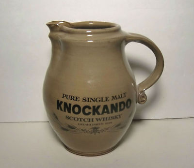 Vintage Hand Turned Stoneware Pitcher Knockando Scotch Whisky RARE - Excellent!