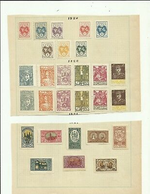 Central lithuania vintage lot on pages