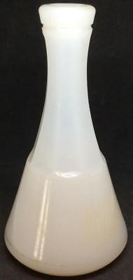 Antique Barbers bottle Apothecary clambroth White milk Glass signed M A co