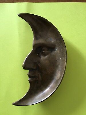 """MAN IN MOON"" FACE PINTRAY GLAUBER BRASS CO. CLEVELAND OH. 1930's -40's."
