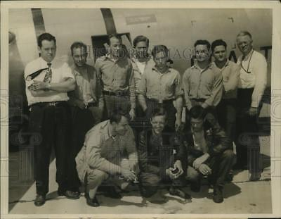 1947 Press Photo Crew members of the ill fated Bessie rescued by the Coast Guard