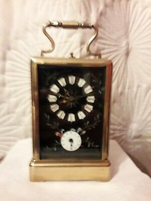 Large 8 Day Repeater Alarm Carriage Clock-In Need Of Repair Semi Working